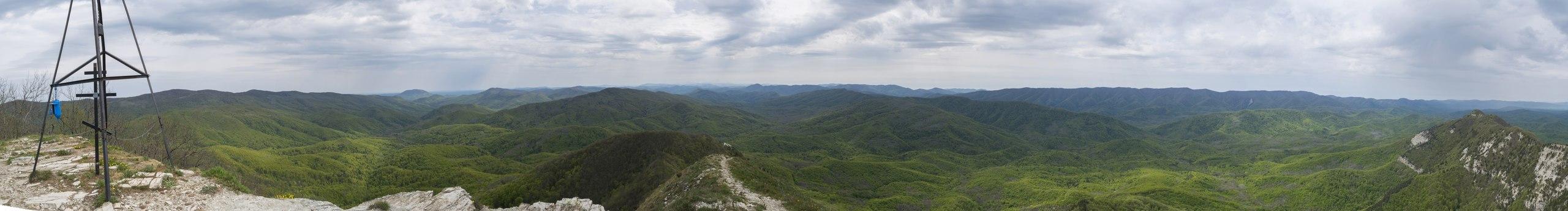 Панорама с горы Папай
