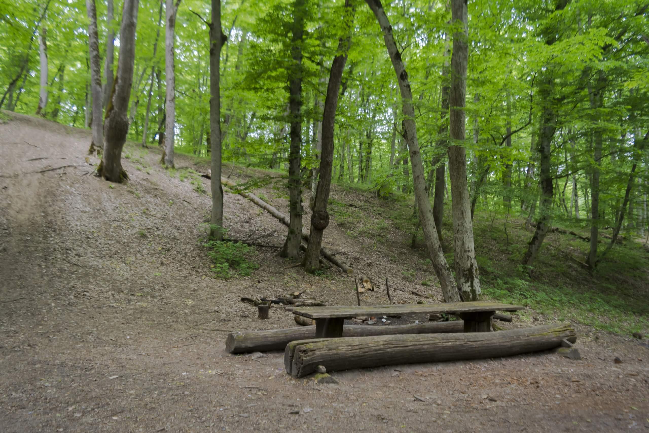 Стоянка у тропы к Богатырским пещерам