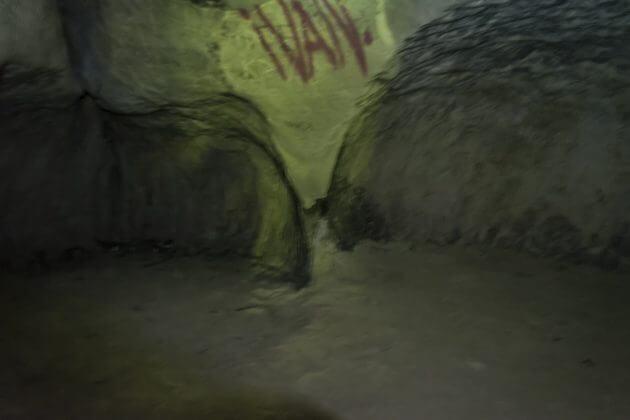 Вид во вторую комнату Богатырской пещеры