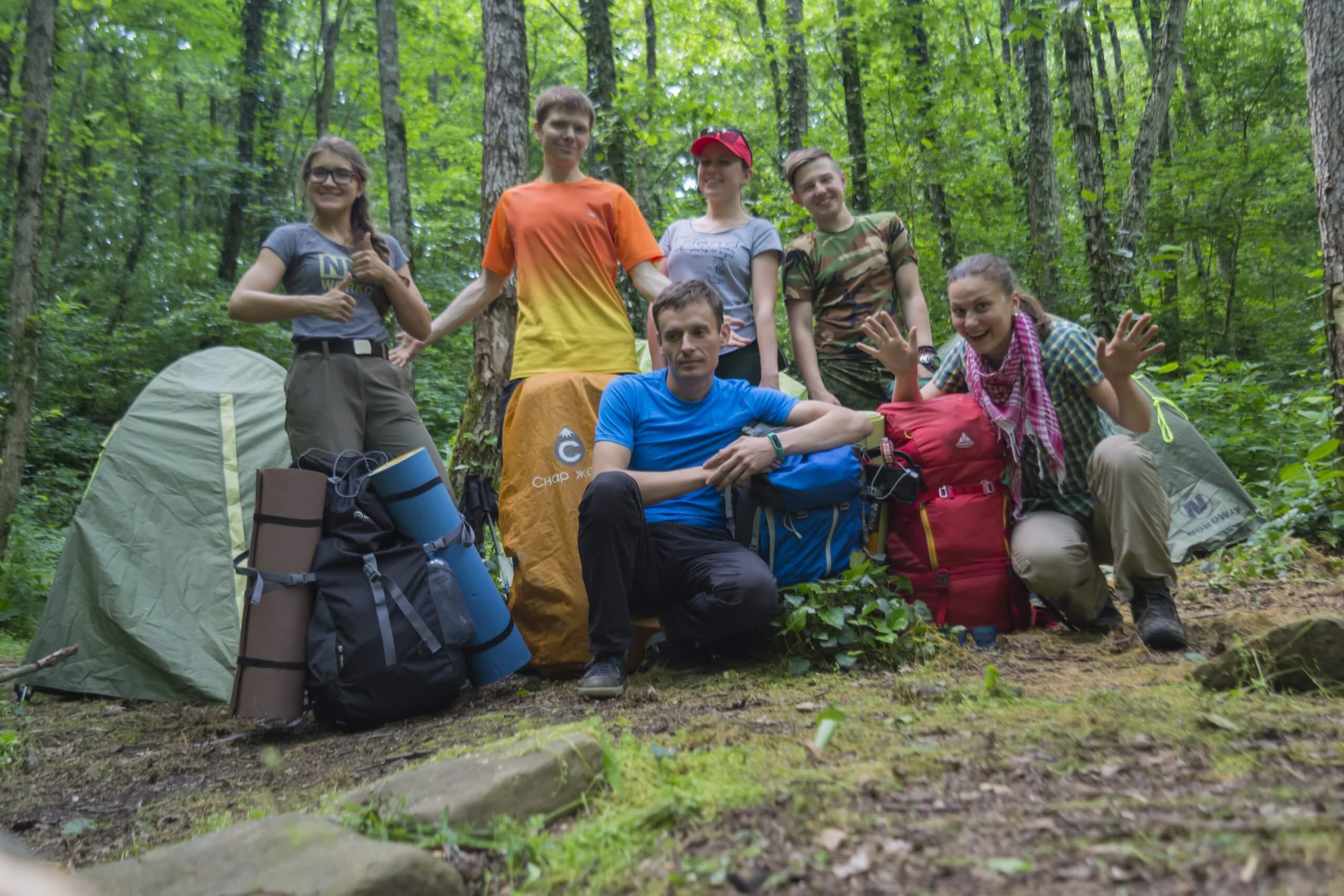 Лагерь рядом с Большой Фанагорийской пещерой