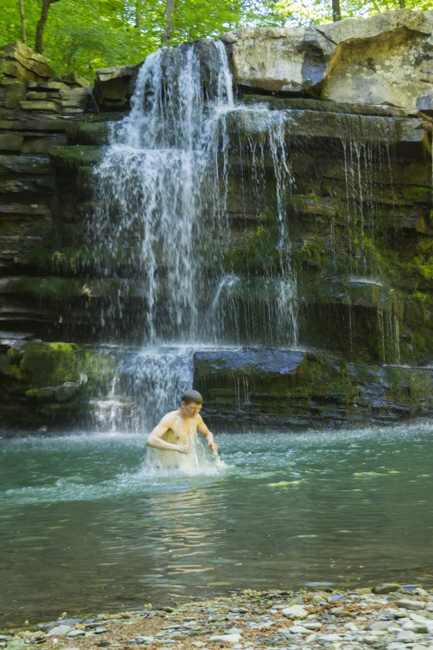Большой Пшадский (Оляпкин) водопад