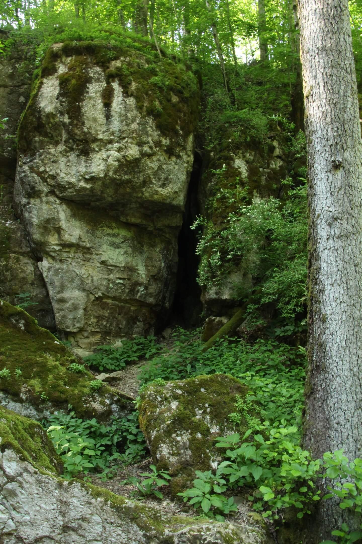 Вход в Малую Фанагорийскую пещеру