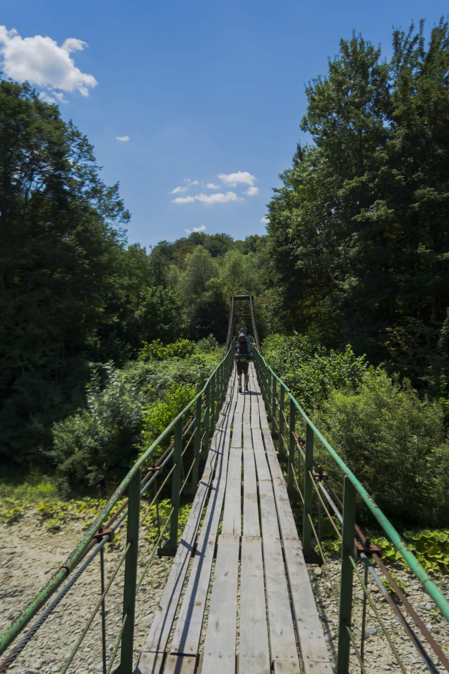 Подвисной мост через реку Псекупс