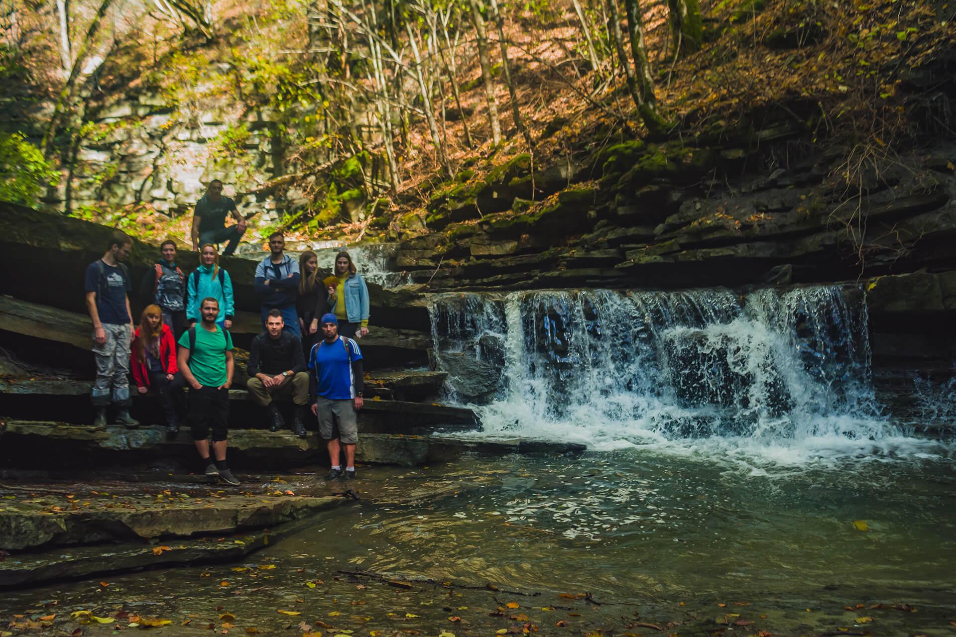Верхние ступени Джиперского водопада