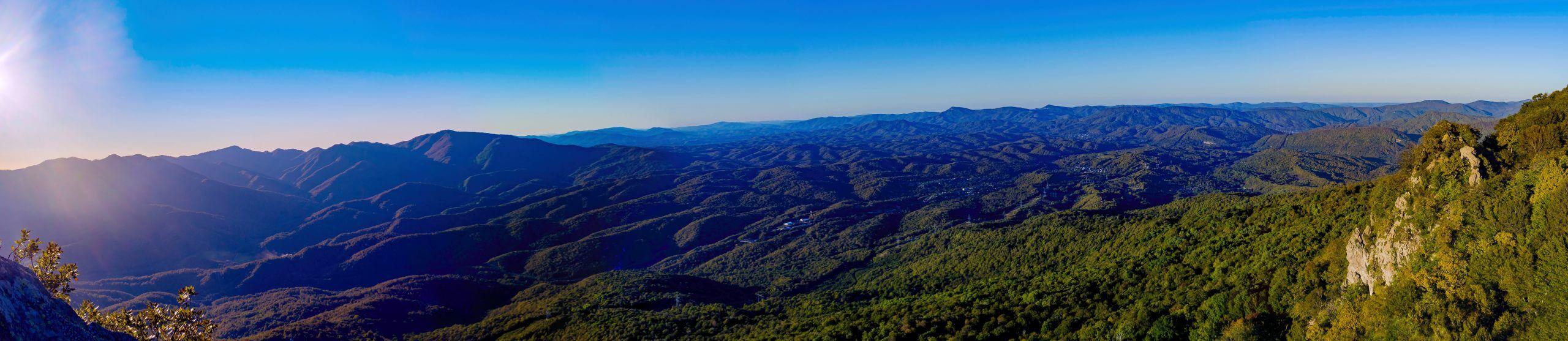 Панорама со скалы Индюшка