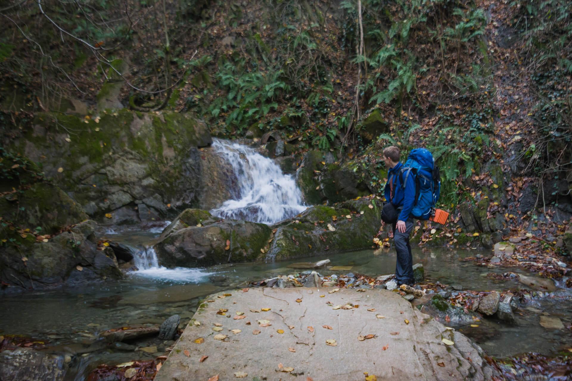 Второй водопад на реке Грязной