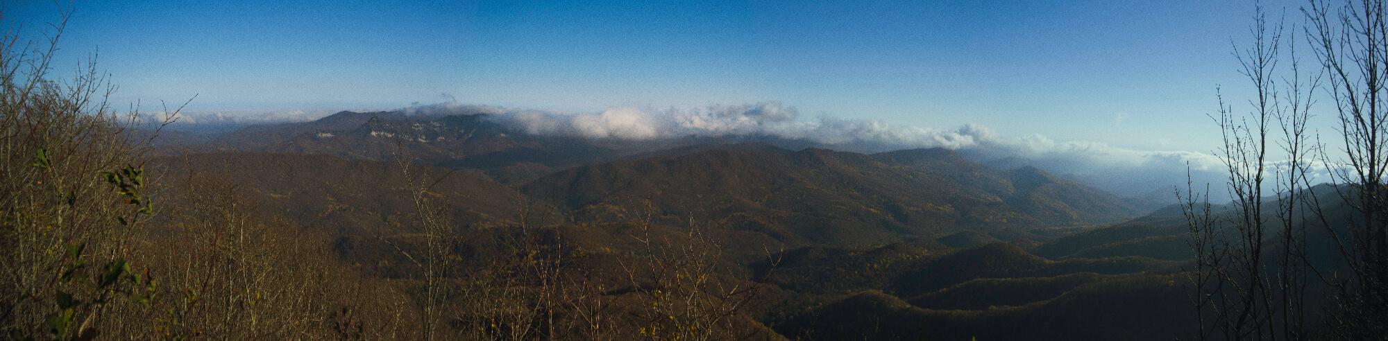 Панорама с хребта Коцехур