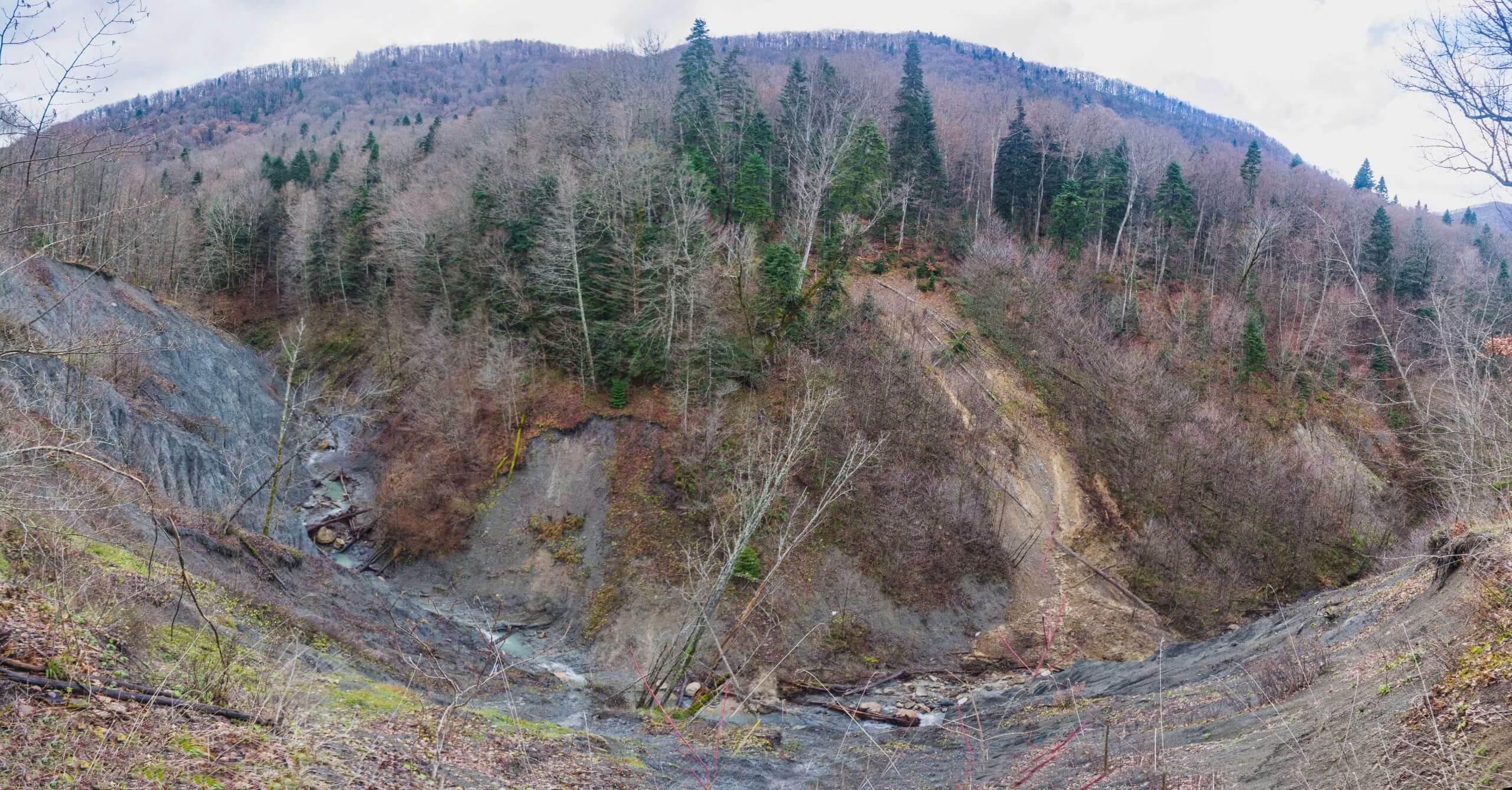 Безымянный каньон в Монастырской щели