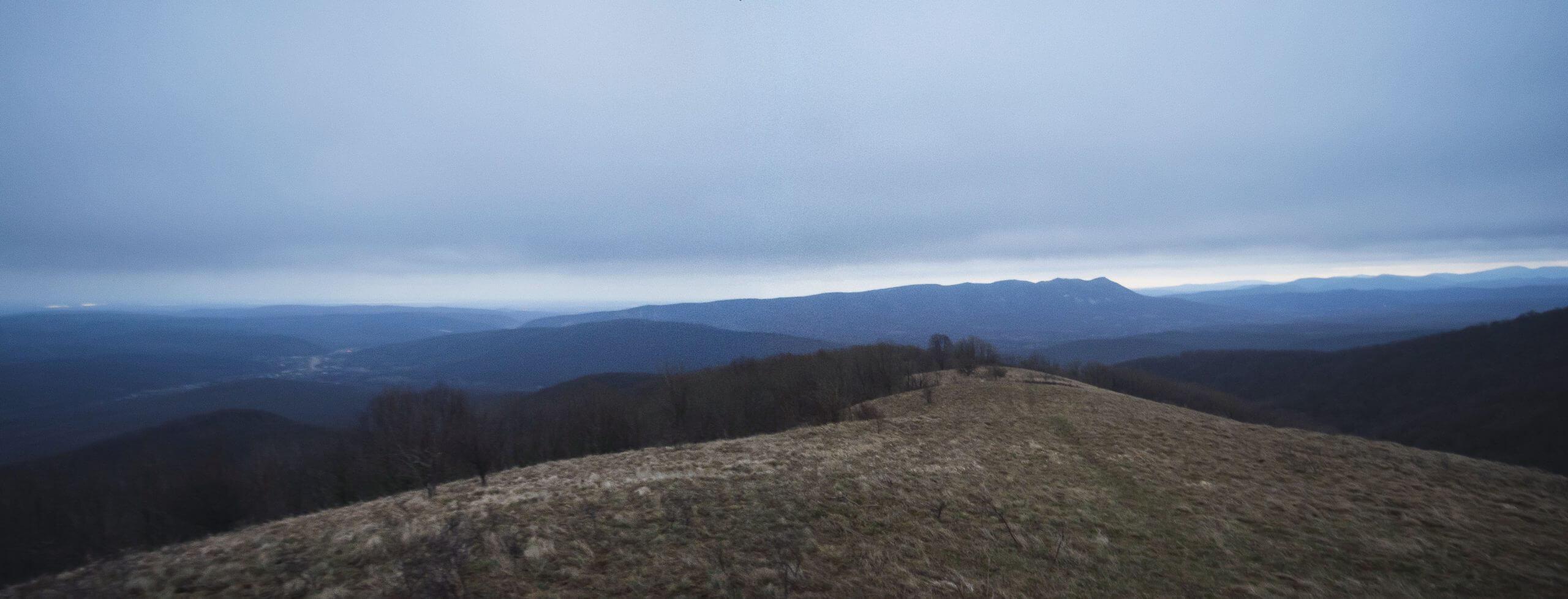 Панорама на север с горы Топчиноватая