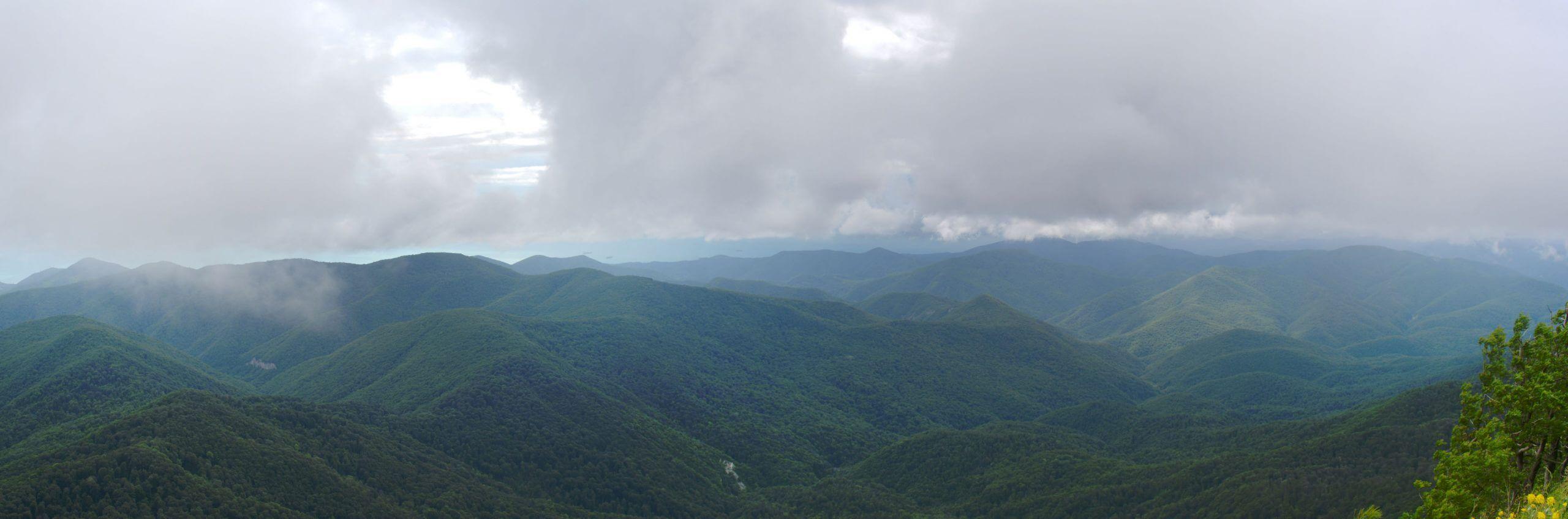 Панорама с горы Большое Псеушхо (Пеус)