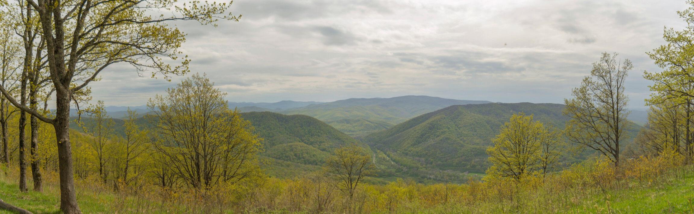Панорама на юг с хребта Котх