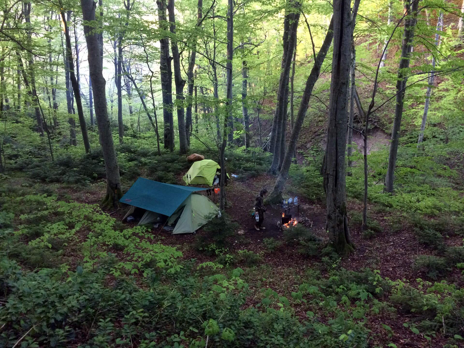 Лагерь у подножия горы Почепсуха