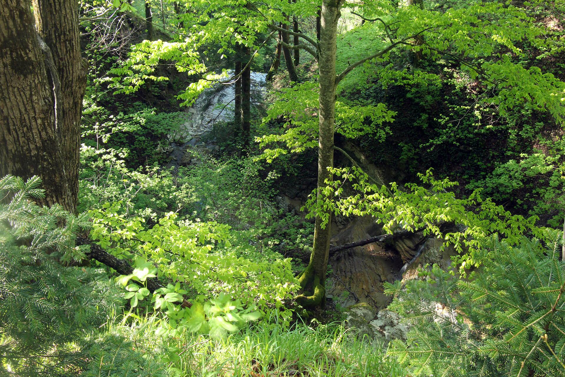 Водопад Верхний на Большой Собачке