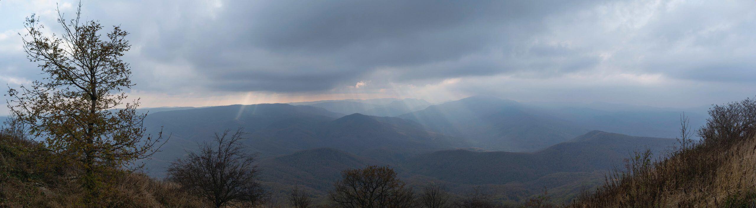 Вид с вершины Собер-Баша